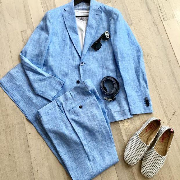linen, suit, italian, style, street,